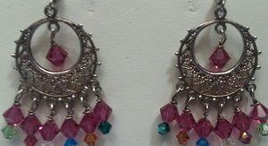 Silver Chandelier Bead Earrings